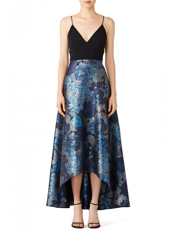 Blue Floral Gown