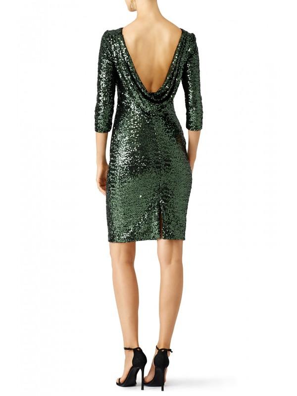 Emerald Sequin Sheath