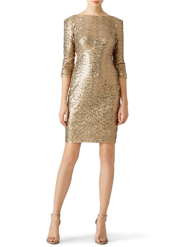 Gold Sequin Sheath