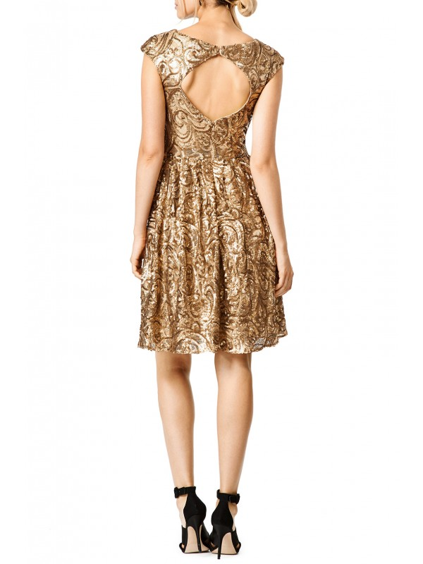 Golden Flower Dress
