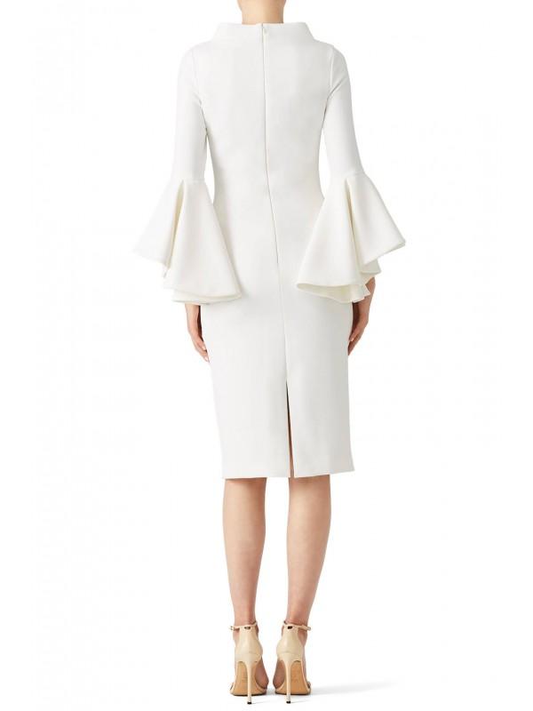 Ivory Bell Sleeve Dress