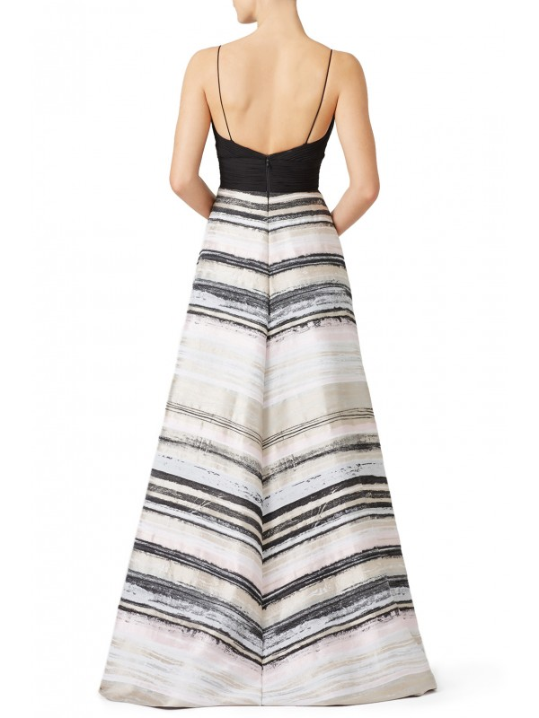 Neutral Stripe Gown