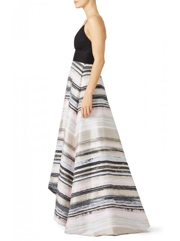 Neutral Stripe Gown