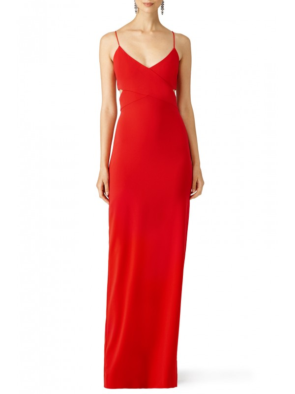 Red Odessa Crossover Gown