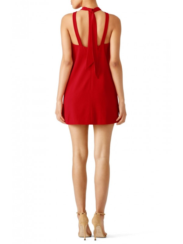 Red Out of Line Dress