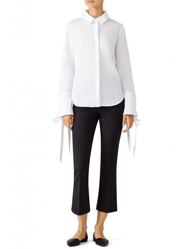 White Oxford Tie Top