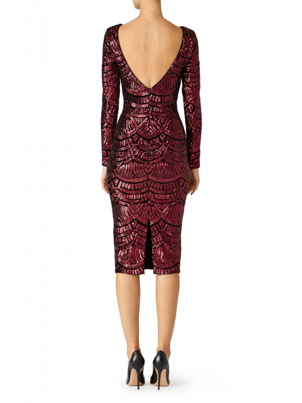 Burgundy Emery Dress