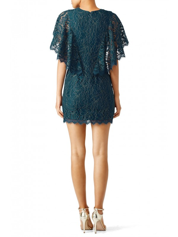 Teal Lace Cape Sheath