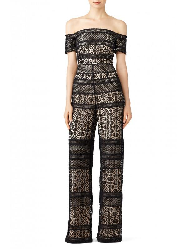 Bicolor Lace Jumpsuit