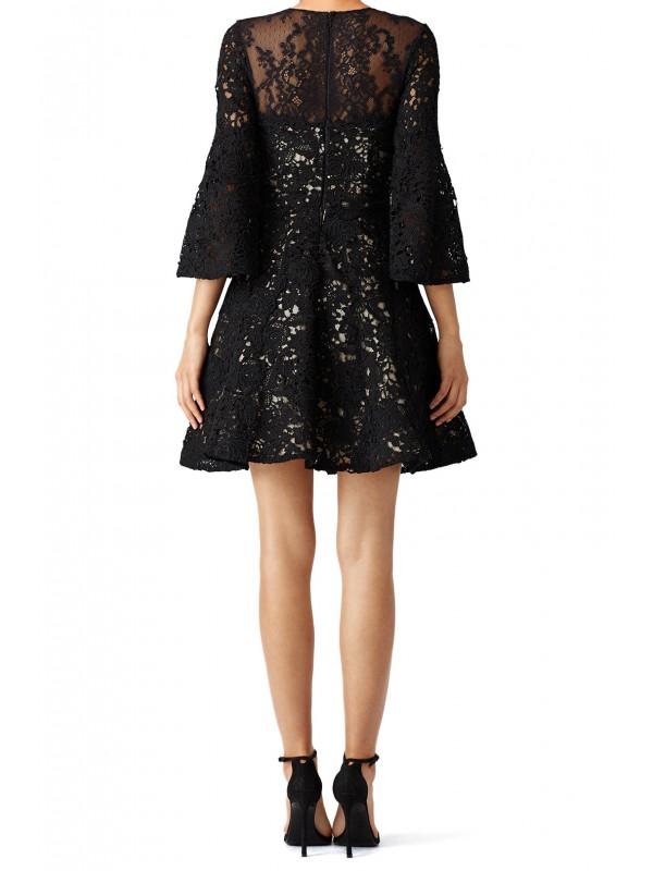 Black Bell Swirl Dress