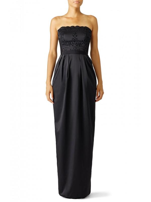 Black Laser Cut Out Gown