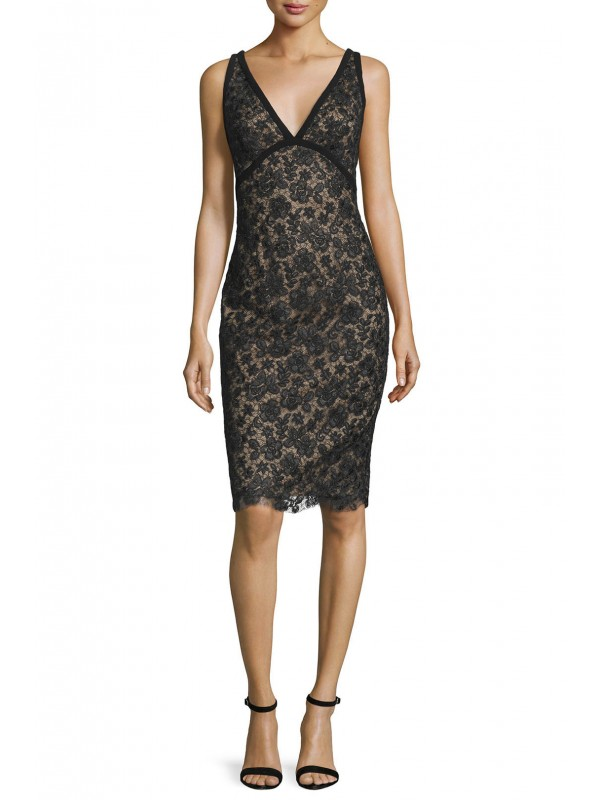 Black Rose Lace Sheath
