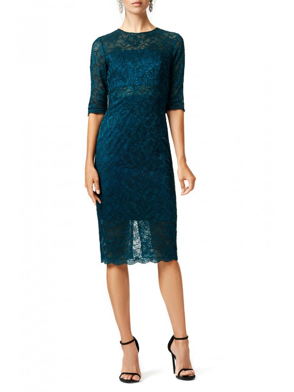 Lace me in Teal Dress