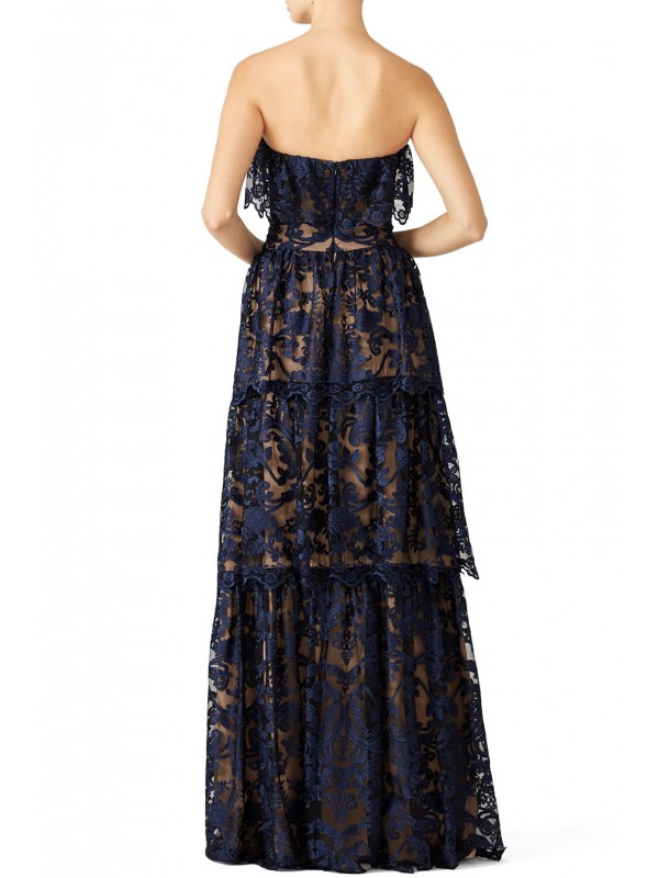 Midnight Lace Gown