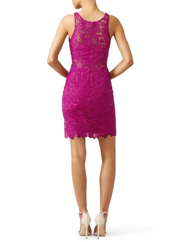 Mulberry Lace Sheath Dress