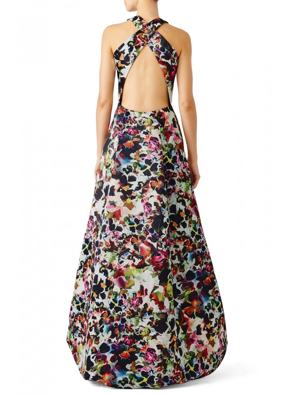 Multi Floral High Low Gown
