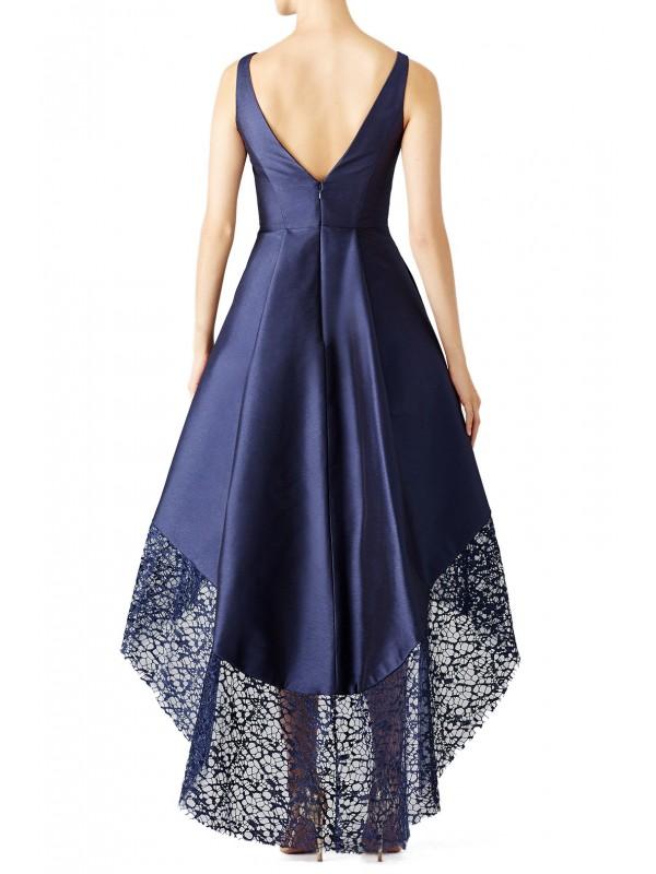 Navy Spiderweb Gown