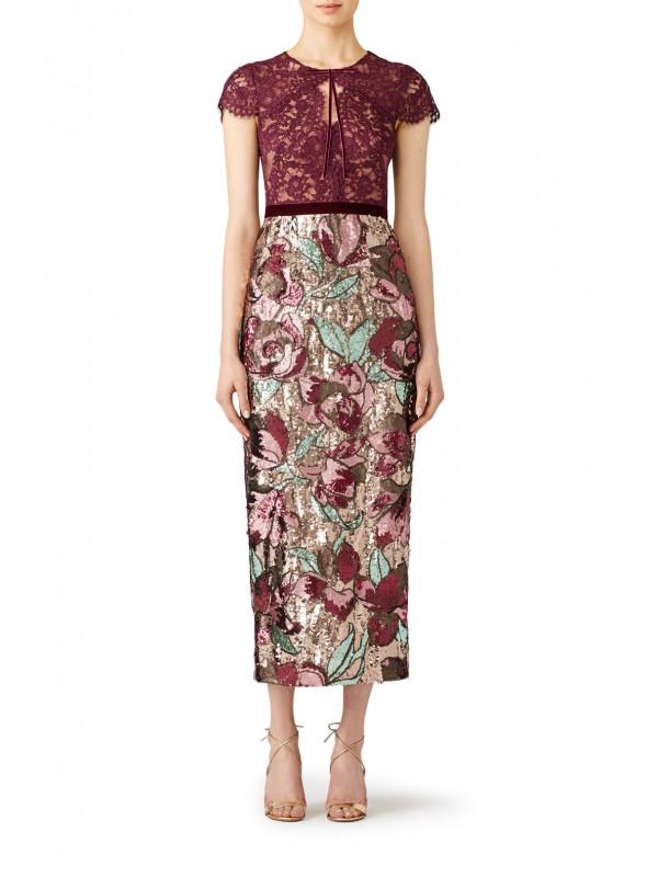 Artwork Sequin Dress