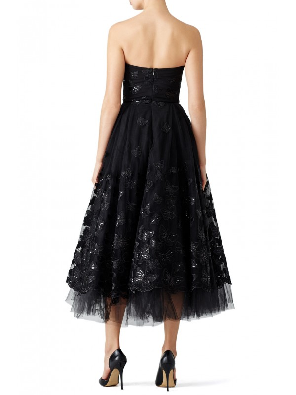 Black Butterfly Tea Dress