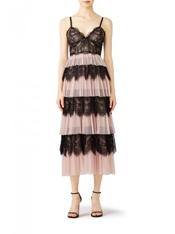 Blush Tiered Tulle Dress