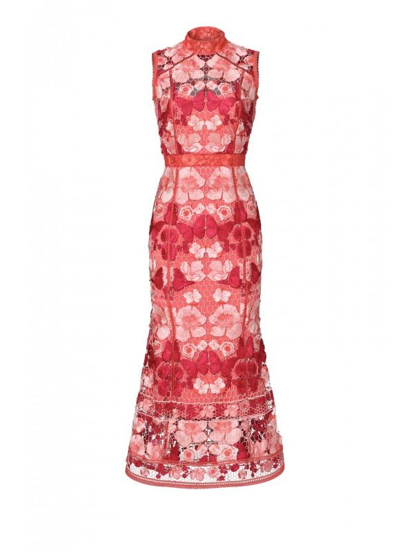 Butterfly Lace Midi Dress