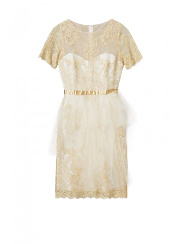 Ethereal Gold Dress