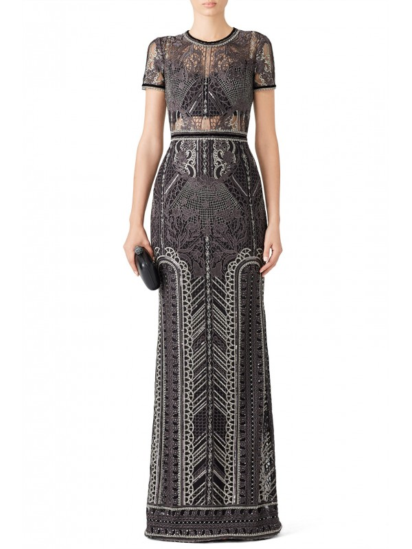Silver Embroidered Gown