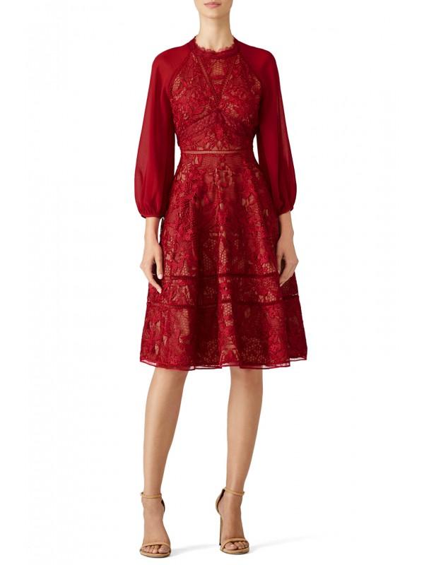 Wine Cuipare Dress