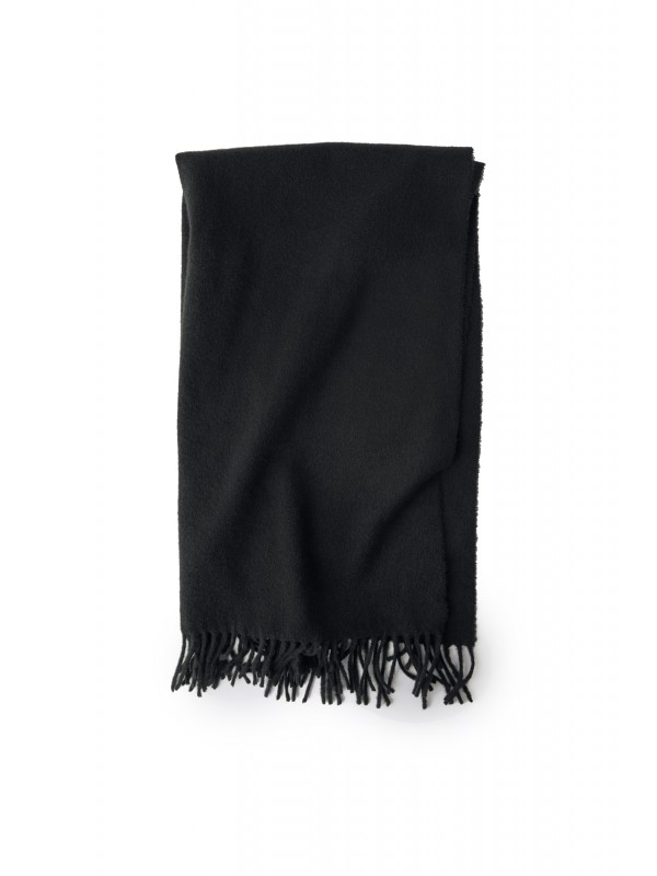Fringed scarf black