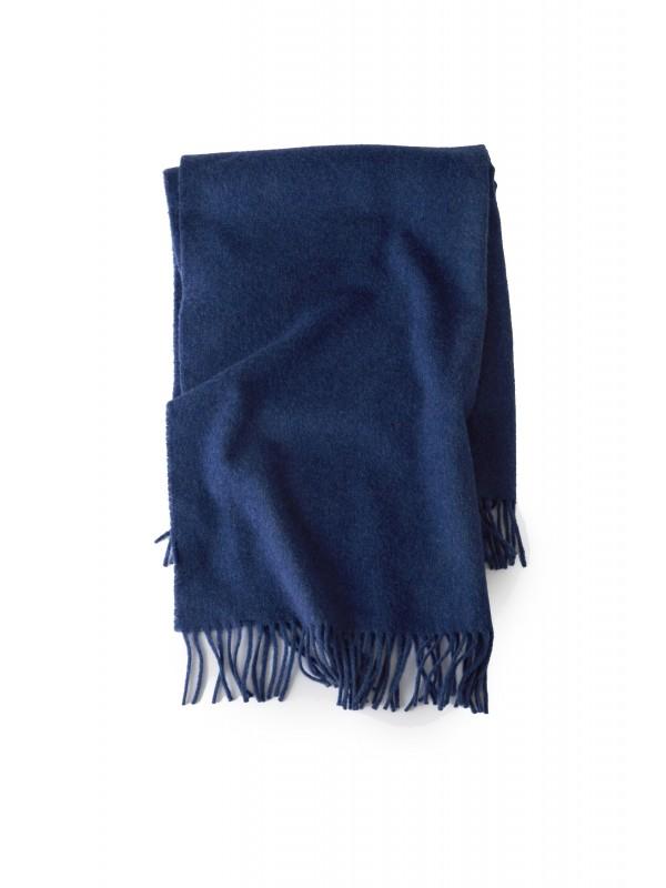 Fringed scarf blue melange