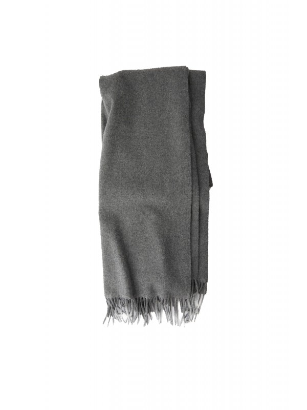 Fringed scarf deep grey melange