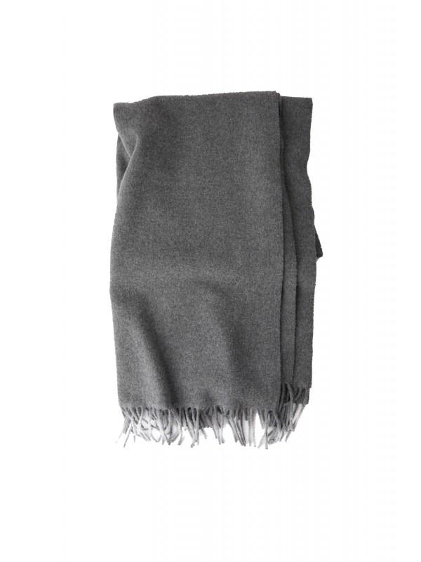 Fringed scarf grey melange