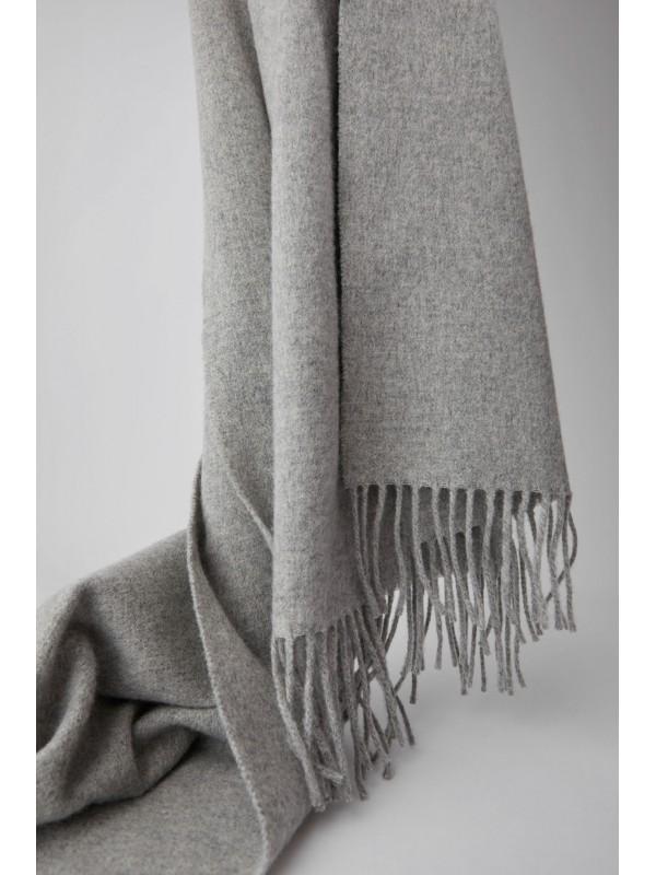 Fringed scarf light grey melange