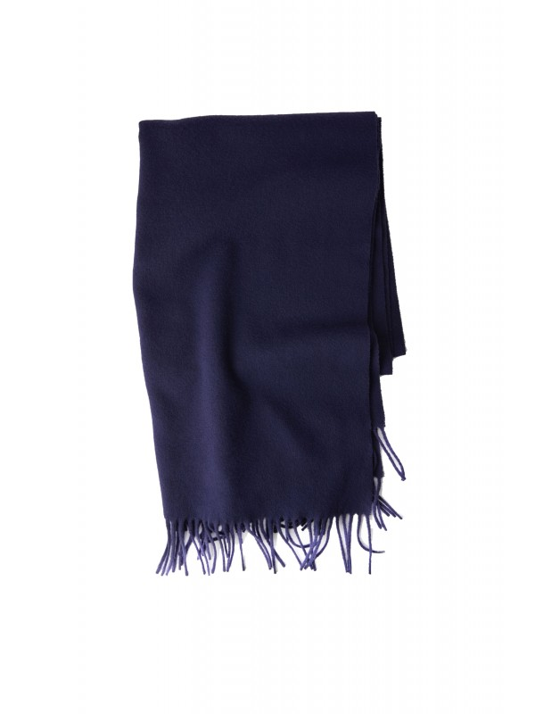 Fringed scarf navy