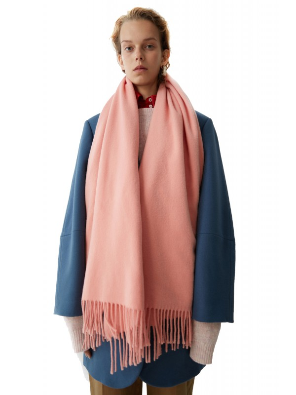 Fringed scarf pale pink