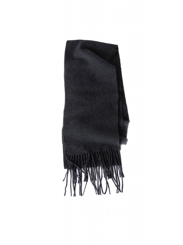 Skinny fringed scarf black melange