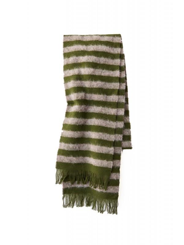 Striped scarf lilac