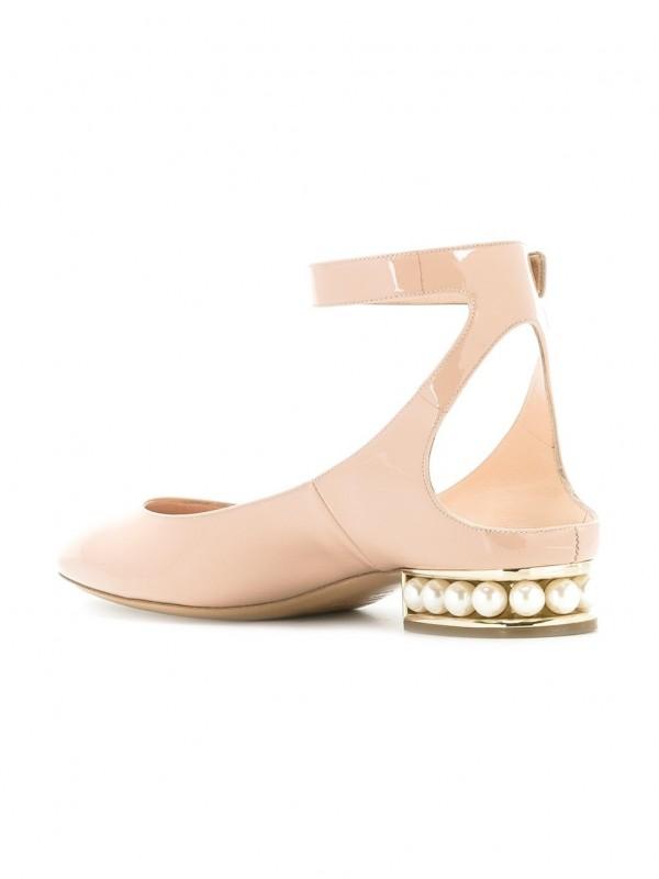 Gianvito Kirkwood Black Suede Lola Pearl ballet pumps