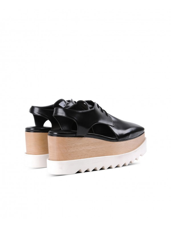 STELLA ELYSE Black Elyse Cut-Out Shoes